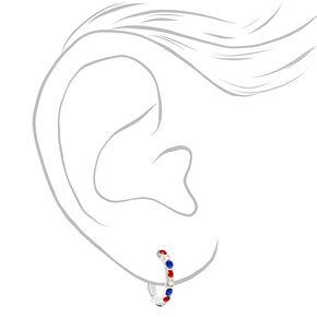 Silver Mini Hoop Star Stud Earrings - 6 Pack,