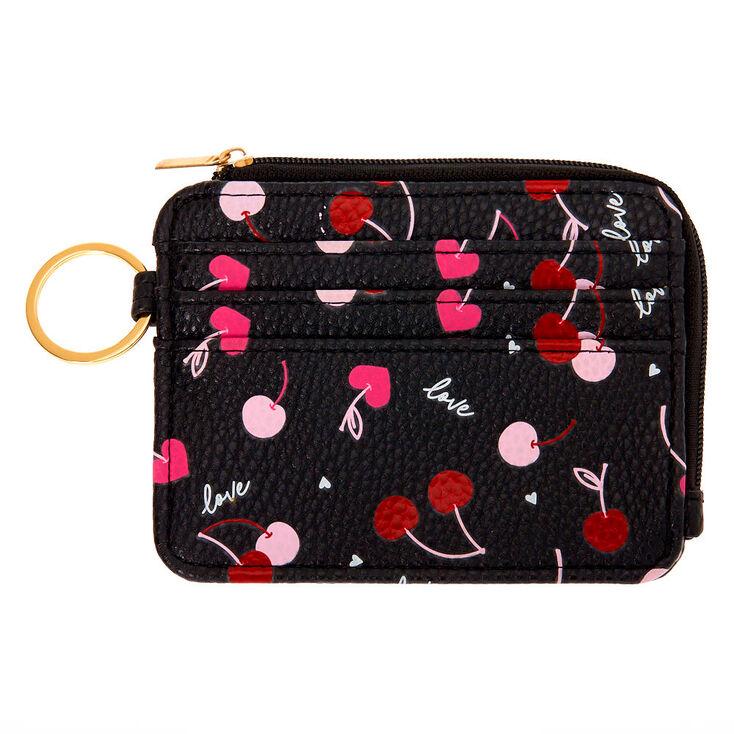 Cherries Coin Purse - Black,