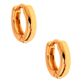 Gold 10MM Huggie Hoop Earrings,