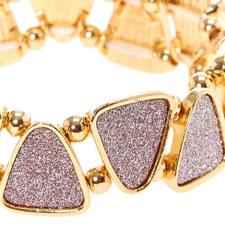 Rose Gold Glitter Stretch Bracelet,
