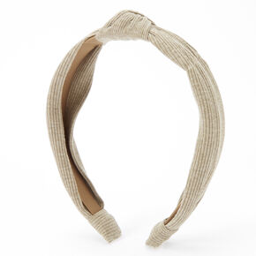 Ribbed Knotted Headband - Olive,
