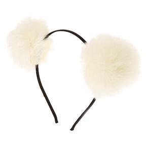 Ivory Pom Pom Headband,