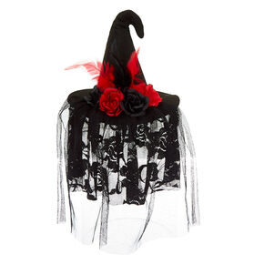 Witch Hat Hair Fascinator - Black,