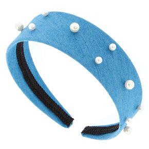 Pearl + Denim Headband,
