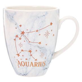 Ceramic Marble Zodiac Mug - Aquarius,