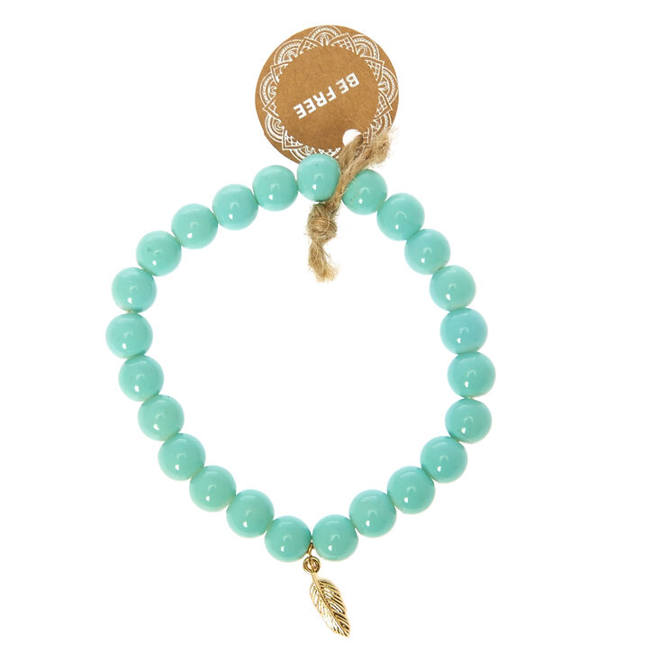 Mint Beaded Be Free Bracelet,