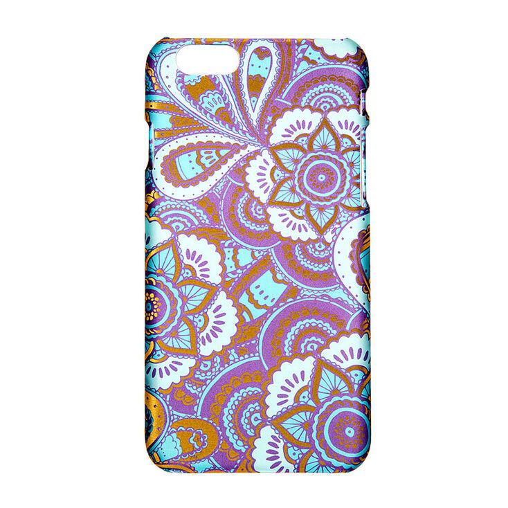 Gold Foil & Teal Floral Phone Case,