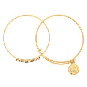 Gold Cheetah Bangle Bracelets - 2 Pack,