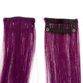 Ombre Clip In Faux Hair Extensions - Lilac,