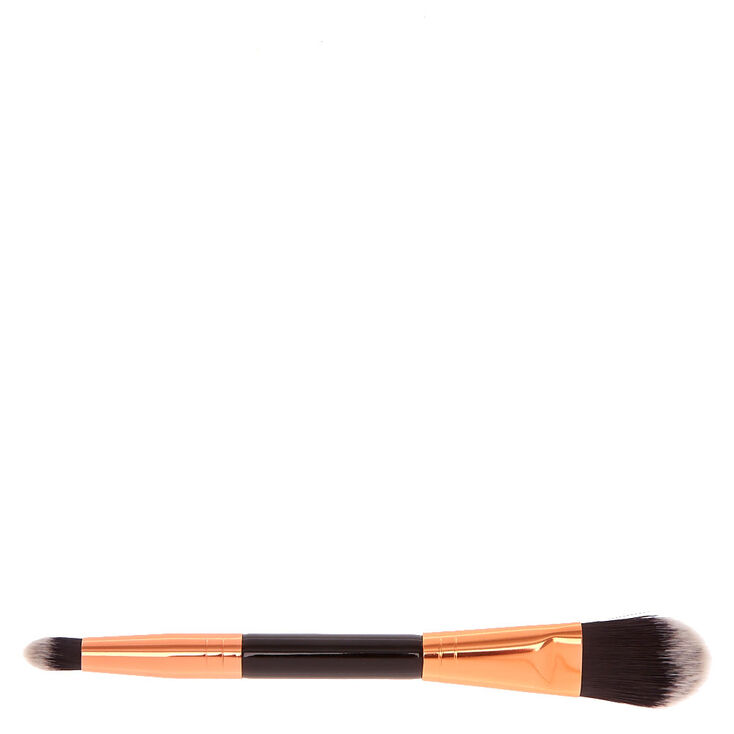 Black & Rose Gold Dual-Ended Concealer & Foundation Brush,