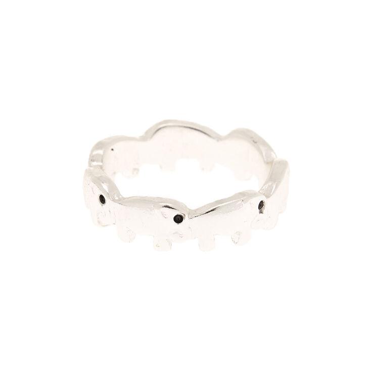 Silver Elephant Midi Ring,
