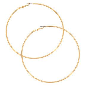 Gold 100MM Hoop Earrings,