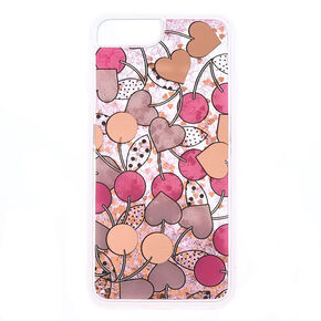 Cherry Heart Shaky Phone Case - Fits iPhone 6/7/8 Plus,