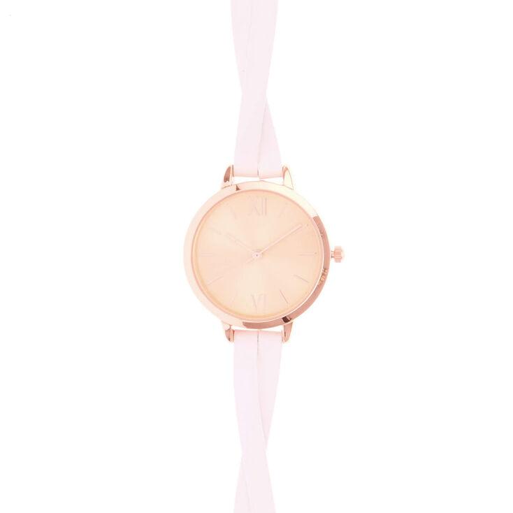 Rose Gold & White Wristwatch,