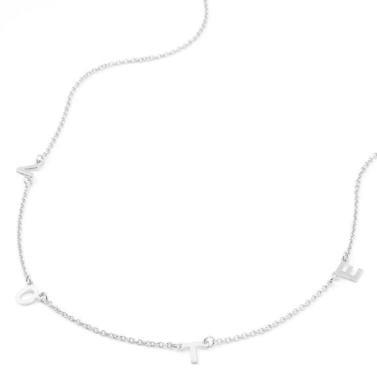 Silver Vote Pendant Necklace,