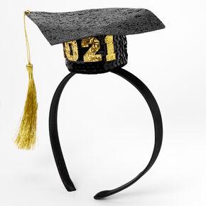 2021 Graduation Cap Headband - Black,