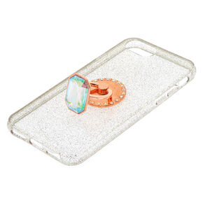 Aurora Borealis Stone Ring Stand Phone Case - Fits iPhone 6/7/8 Plus,