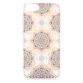 Boho Mandala Clear Phone Case - Fits iPhone 6/7/8/SE,
