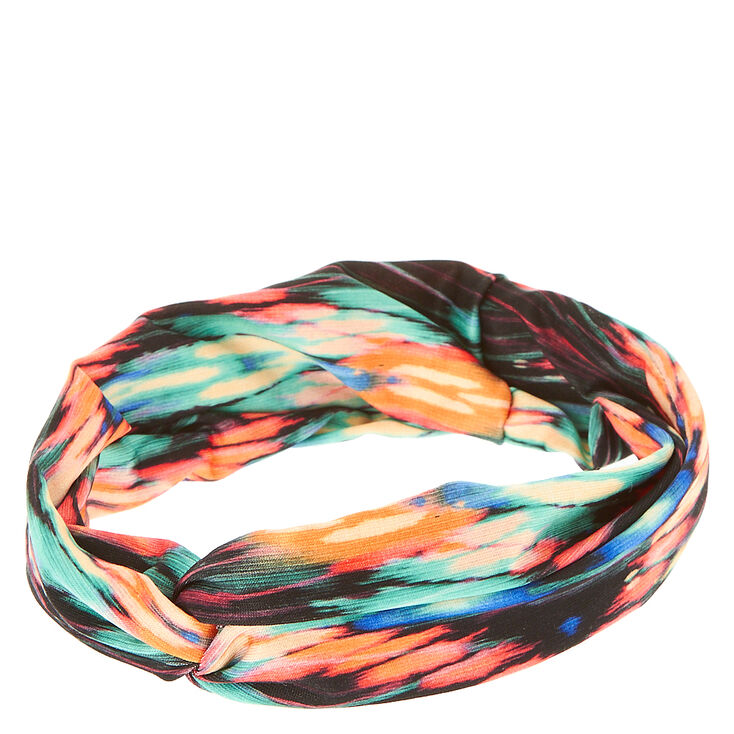 Multi-Colored Striped Knotted Headwrap,