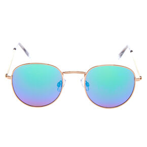 Gold Round Sunglasses,
