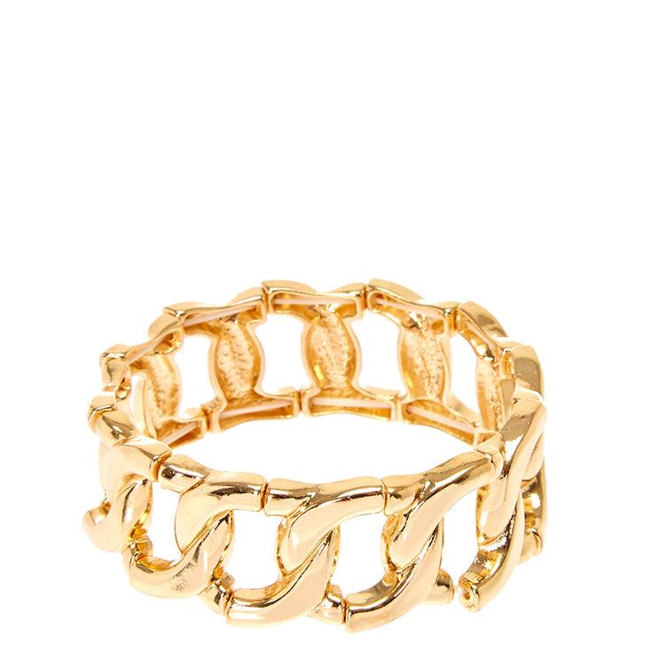 Gold Link Stretch Bracelet,