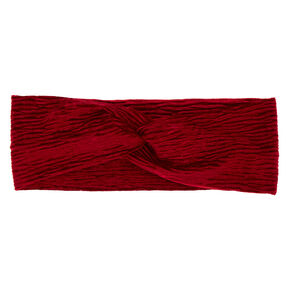 Velvet Twisted Headwrap - Burgundy,