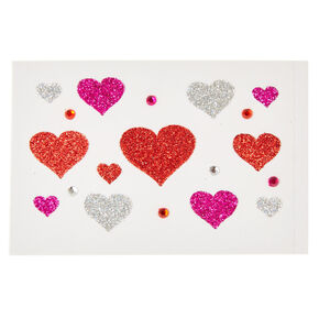 Glitter Body Heart Stickers,