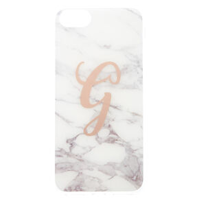 Marble G Initial Phone Case - Fits iPhone 6/7/8,
