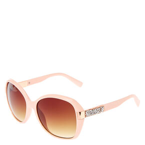 Pink Bling Arm Tinted Sunglasses,