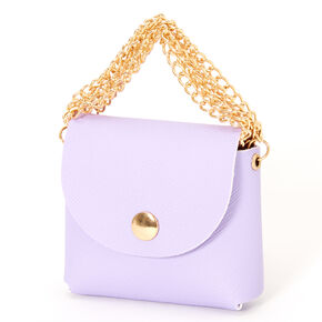 Pastel Lavender Mini Purse Earbud Case Cover - Compatible With Apple AirPods®,