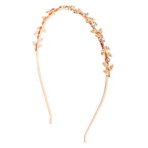 Rose Gold Stone Vine Headband,