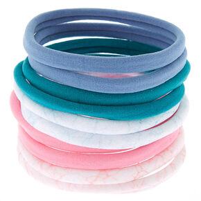 Marble Mix Hair Elastics - 10 Pack,