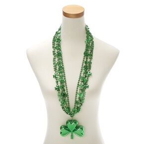 4 Pack St. Patrick's Day Bead Necklaces,