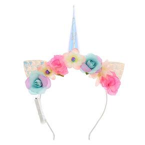 Light Up Unicorn Floral Cat Ear Headband,