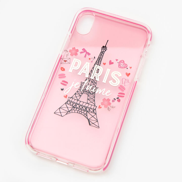 I Love Paris Eiffel Tower Phone Case - Fits iPhone XR,