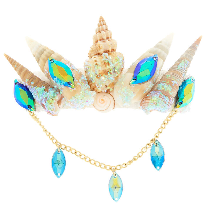 Aqua Mermaid Shell Hair Barrette,