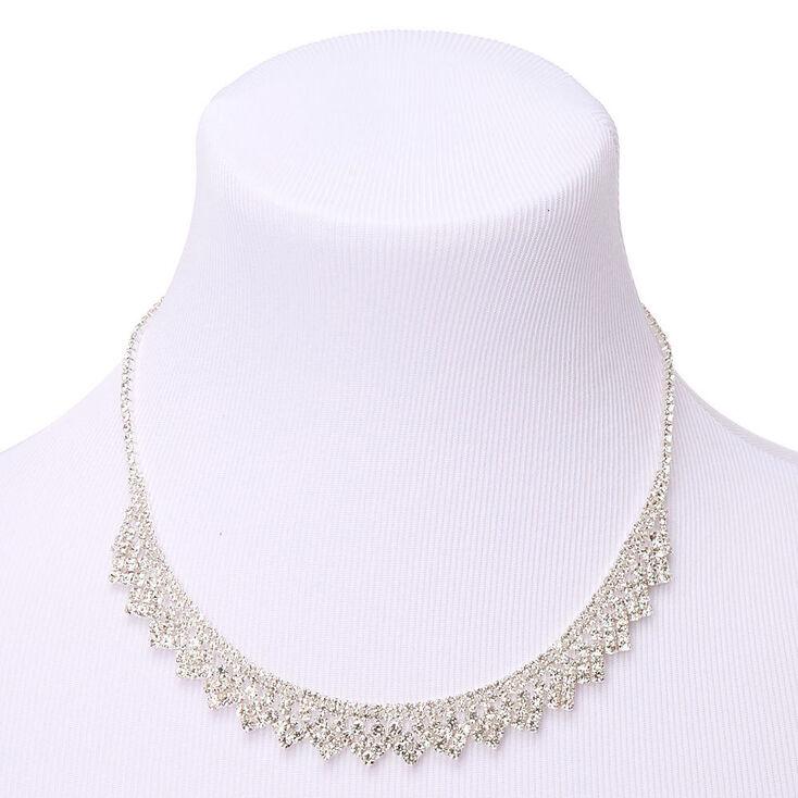 Silver Rhinestone Peacock Jewelry Set - 2 Pack,