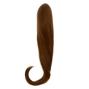Extra Long Faux Hair Extensions Ponytail Claw - Brown,