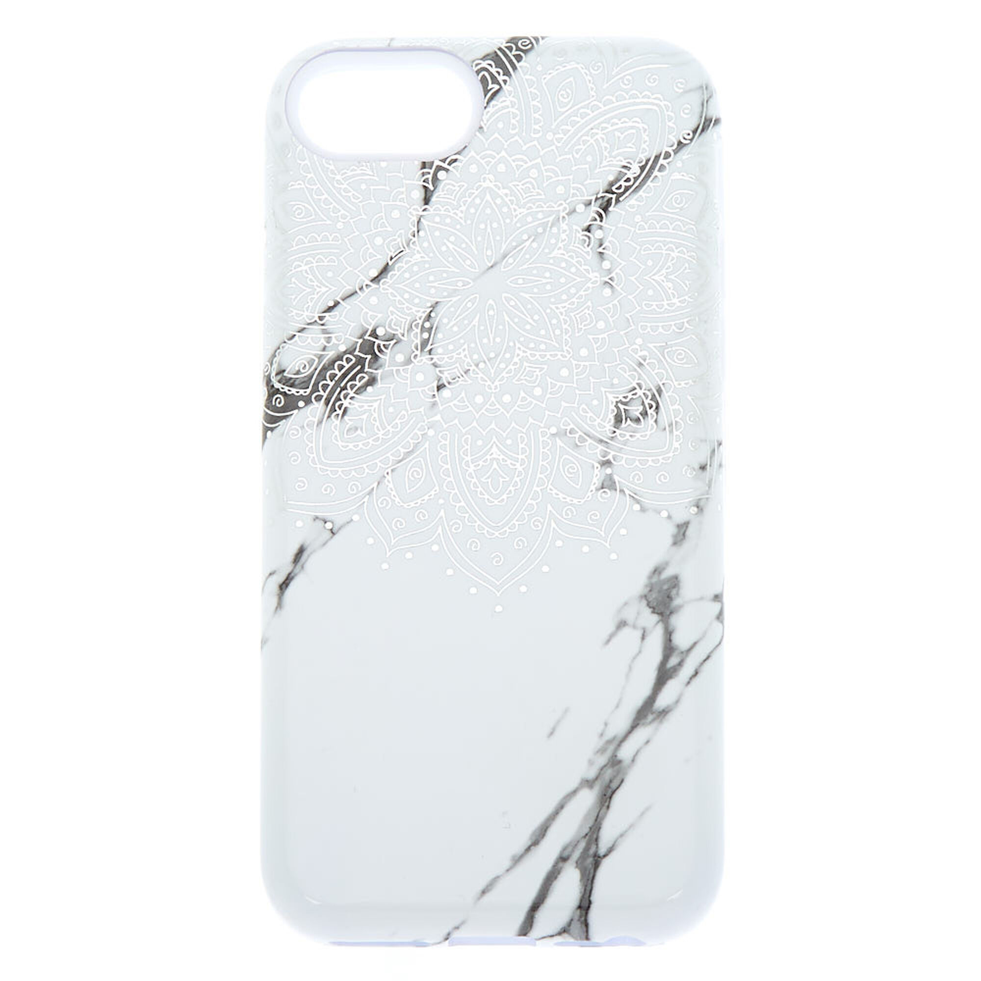 Mandala and Marble Protective Phone Case - White  dacc75f33f