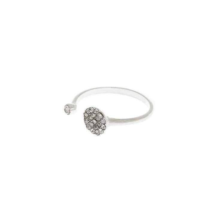 Silver Round Cuff Ring,