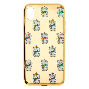 Gold Lucky Cat Phone Case - Fits iPhone XR,