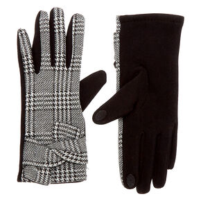 Houndstooth Touchscreen Gloves,