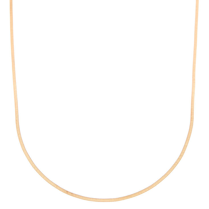 Gold Simple Sleek Statement Necklace,