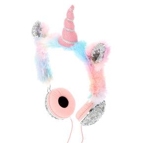 Rainbow Sequin Unicorn Heaphones,