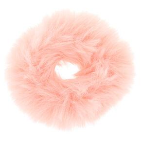 Faux Fur Hair Scrunchie - Blush,