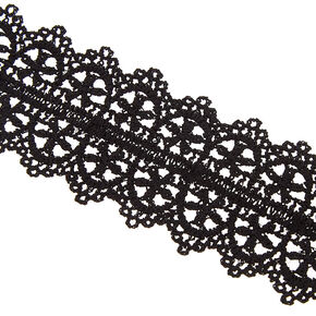 Lace Statement Bracelet - Black,