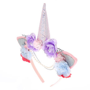 Floral Unicorn Headband - Pink,