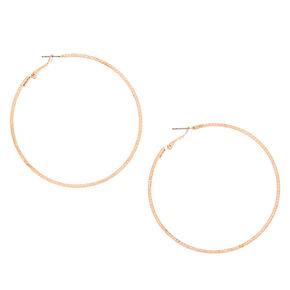 Rose Gold 70MM Laser Cut Hoop Earrings,