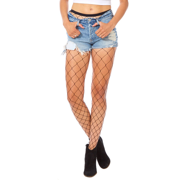 1276b76a2a419 Wide Black Fishnet Tights | Icing US