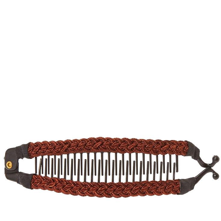 Brown Cord Banana Hair Clip,